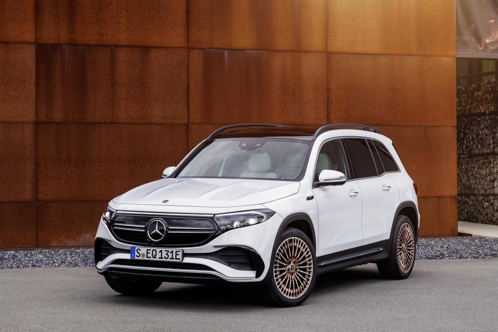 Cận cảnh thiết kế đầu xe của Mercedes-Benz EQB 2021