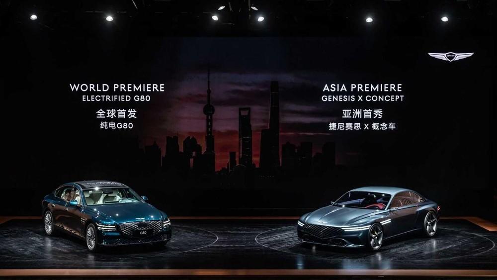 Genesis Electrified G80 ra mắt tại Triển lãm Ô tô Thượng Hải 2021