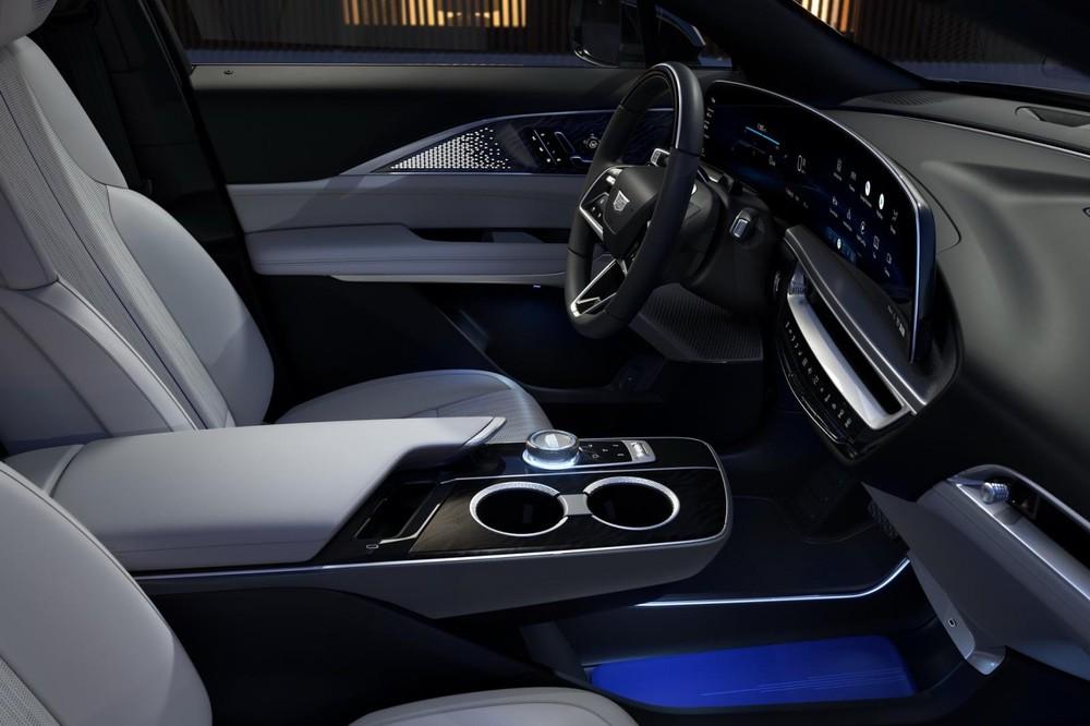 Cụm điều khiển trung tâm như nằm lơ lửng của Cadillac Lyriq 2023