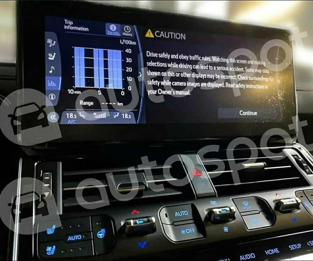 Màn hình thông tin giải trí của Toyota Land Cruiser 2022