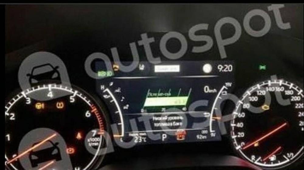 Bảng đồng hồ của Toyota Land Cruiser 2022