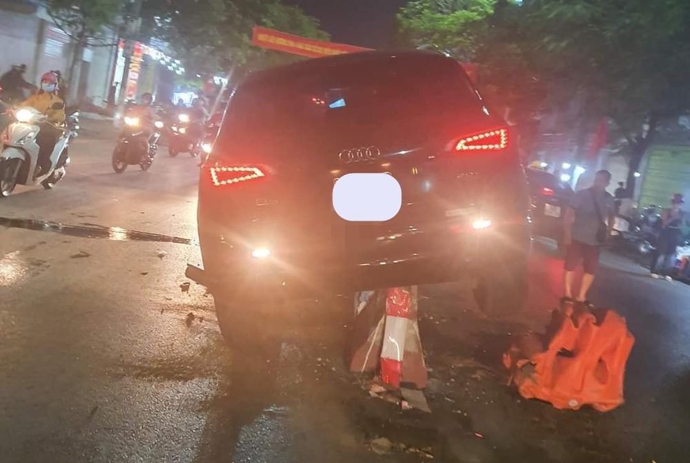 Thiệt hại của chiếc xe Audi Q5 khá nghiêm trọng