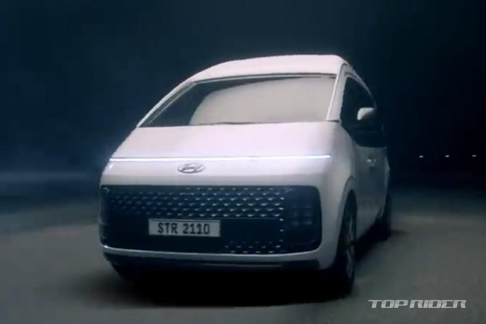 Thiết kế đầu xe của Hyundai Staria Limousine 2021 không có gì khác bản thường