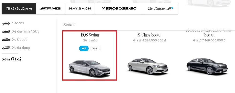 Mercedes-Benz EQS sẽ là mẫu xe sang chạy điện đầu tiên được hãng xe Đức đưa về Việt Nam.