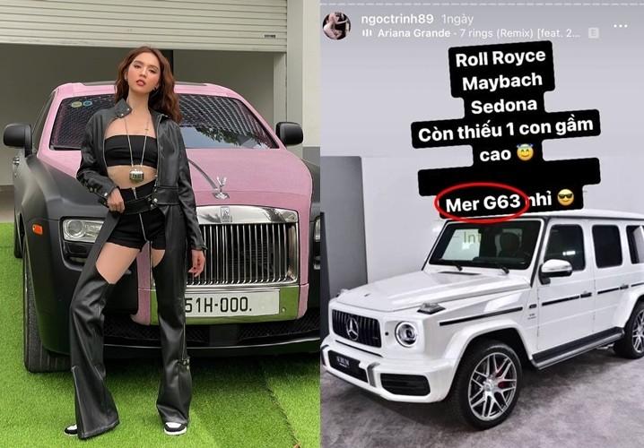 Ngọc Trinh tiết lộ sẽ sớm phấn đấu mua 1 chiếc xe Mercedes-AMG G63
