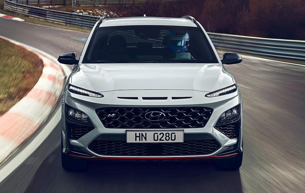 Cận cảnh đầu xe của Hyundai Kona N 2021