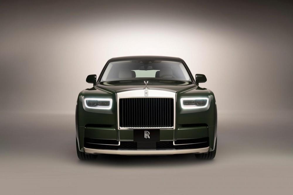 Rolls-Royce Phantom Oribe được sơn màu theo gốm Oribe của Nhật Bản