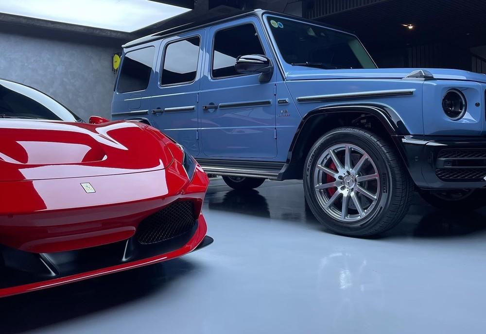 Mercedes-AMG G63 cùng siêu xe Ferrari F8 Tributo của Cường Đô-la