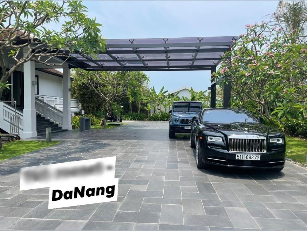 Cường Đô-la chia sẻ hình ảnh chiếc Rolls-Royce Wraith cùng Mercedes-AMG G63 xuất hiện tại Đà Nẵng