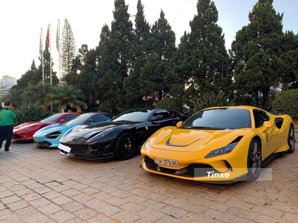 Siêu xe mui trần Ferrari F8 Spider đọ dáng cùng Ferrari 812 Superfast, McLaren 720S Spider và Ferrari F8 Tributo