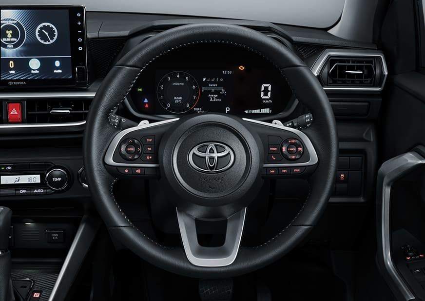 Toyota Raize 2021 bản cao cấp nhất có lẫy chuyển số sau vô lăng