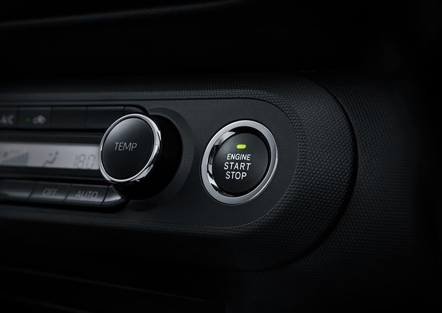 Toyota Raize 2021 còn có nút bấm khởi động máy