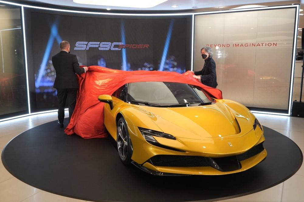 Ferrari SF90 Spider mới ra mắt ở Hồng Kông