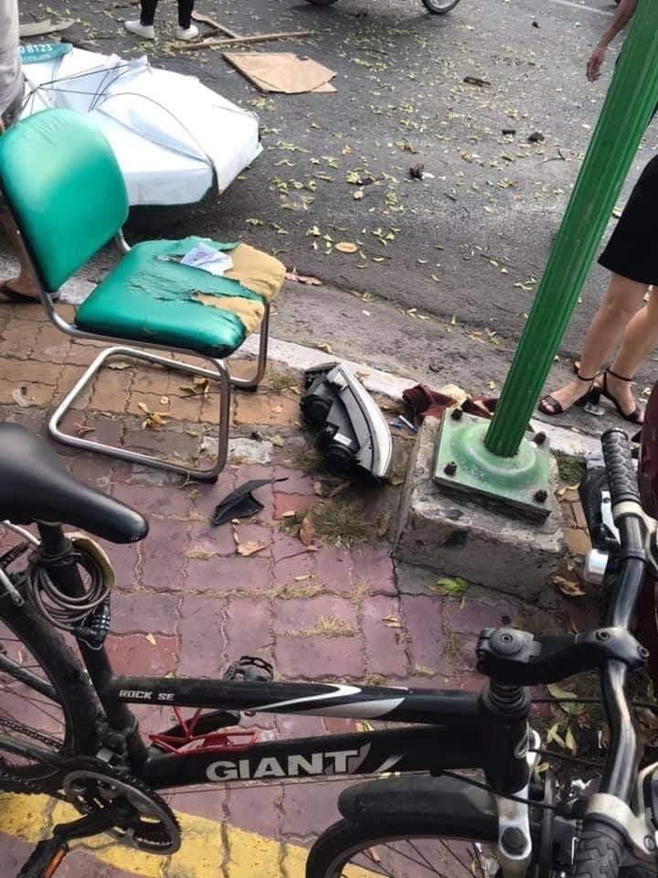 Vụ tai nạn gây thiệt hại khá nhiều đồ dùng của người dân