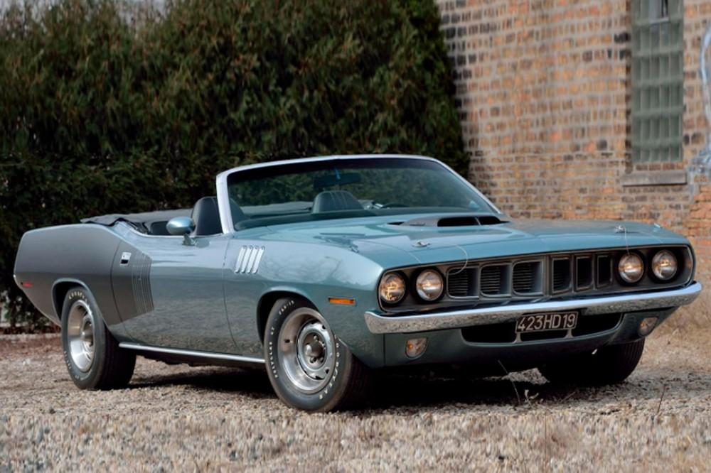 Phía trước của Plymouth Hemi Cuda Convertible 1971
