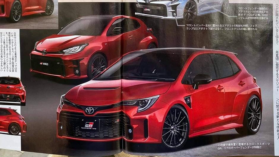 Phác họa thiết kế đầu xe của Toyota GR Corolla 2022