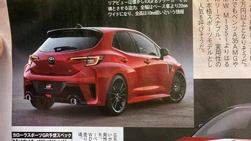 Phác họa thiết kế đằng sau của Toyota GR Corolla 2022