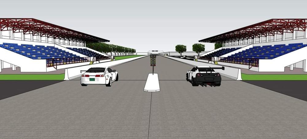 Cặp đôi xe JDM nổi tiếng Toyota Supra với Nissan GTR xuất hiện tại đường đua drag 400 m qua bản vẽ