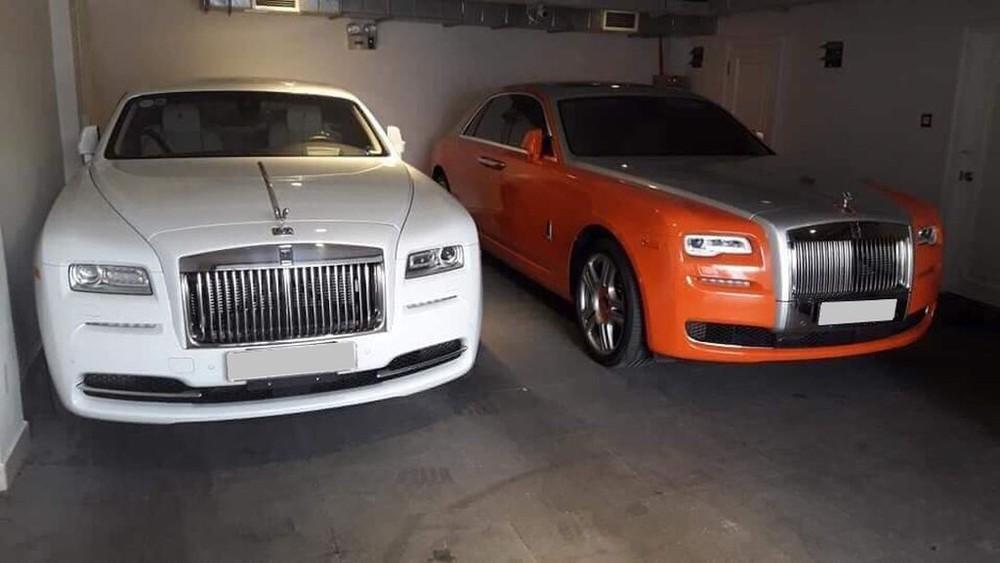 2 chiếc xe siêu sang Rolls-Royce từng xuất hiện cùng nhau trong garage của ông Dũng Lò Vôi
