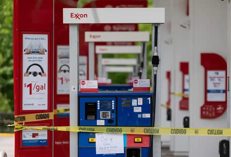 Nhiều trạm xăng dầu tại Mỹ đã cạn nhiên liệu