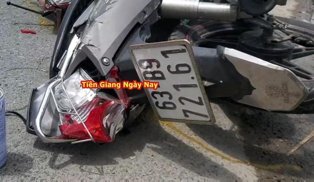 Xe máy của nạn nhân bị hư hỏng