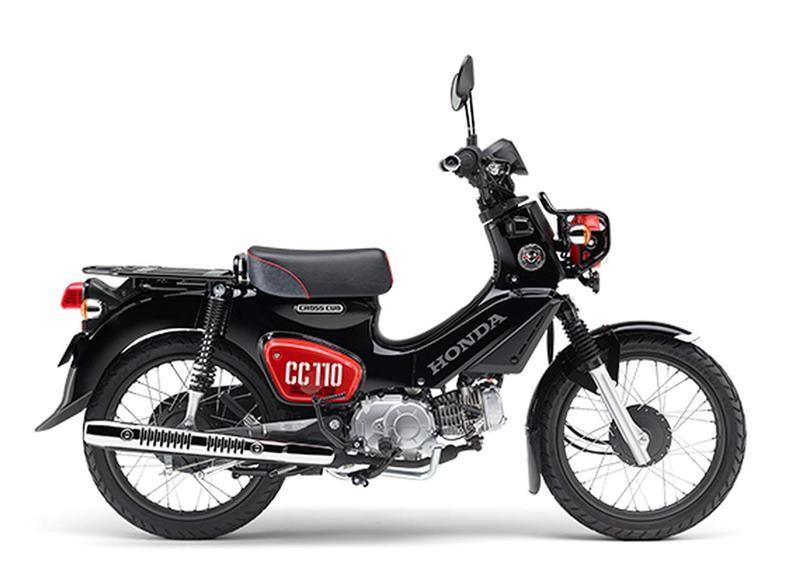 Phiên bản thường màu đỏ đen trên Honda Cross Cub 110