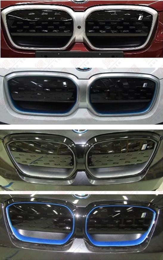 4 màu viền lưới tản nhiệt của BMW iX3 2022