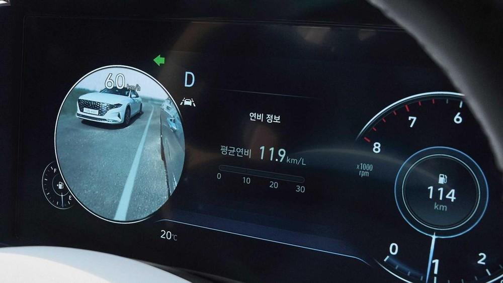 Bảng đồng hồ kỹ thuật số của Hyundai Grandeur Le Blanc 2021