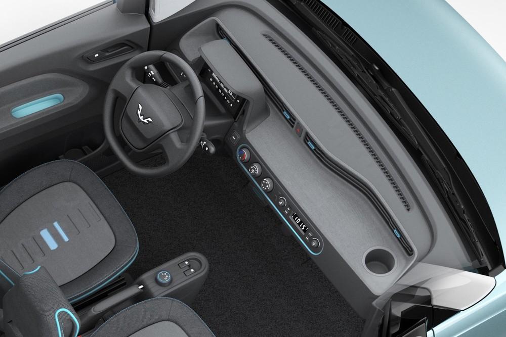 Nội thất đơn giản của Wuling Hongguang Mini EV
