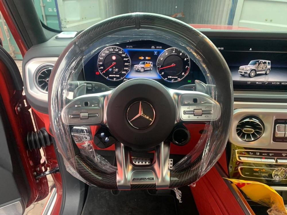Vô-lăng xe Mercedes-AMG G63 này có ốp carbon