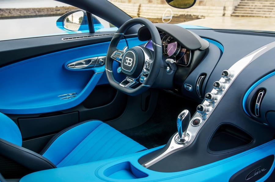 Nội thất siêu xe Bugatti Chiron