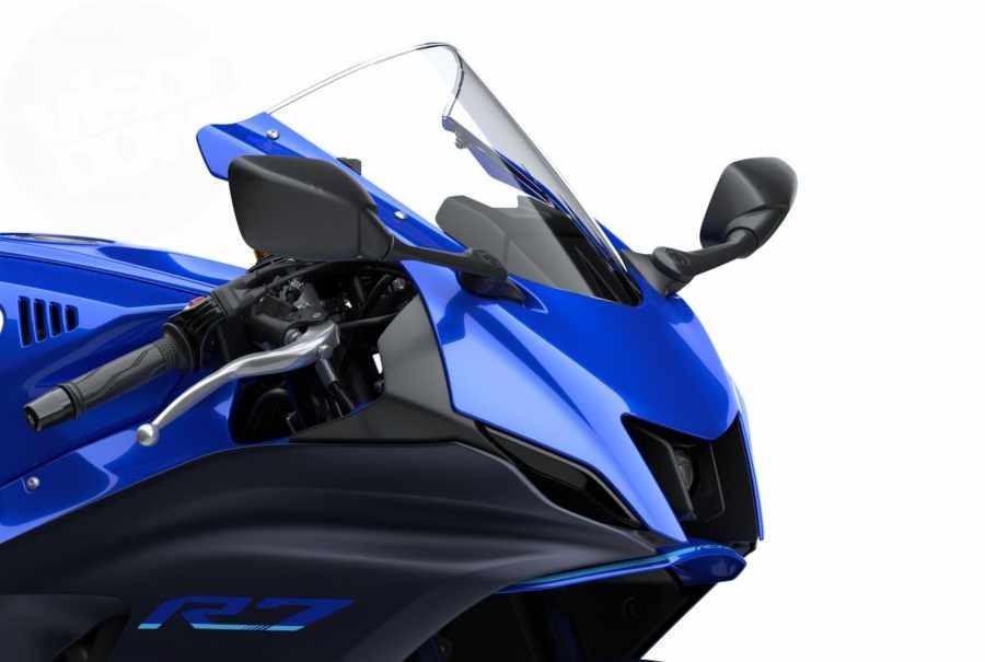 Thiết kế hốc gió đầy hấp dẫn trên dàn đầu của Yamaha R7 2021