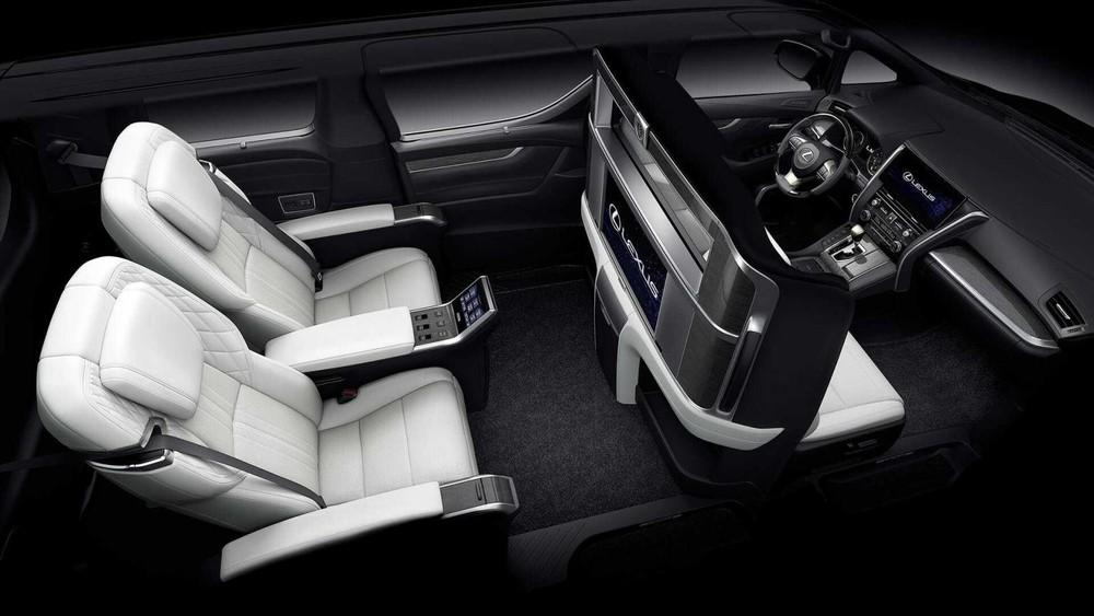Cấu hình 4 chỗ của Lexus LM 350 2021.