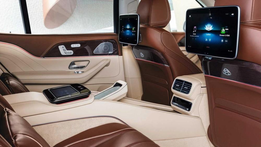 Hệ thống giải trí cho hàng ghế sau của Mercedes-Maybach GLS 2021