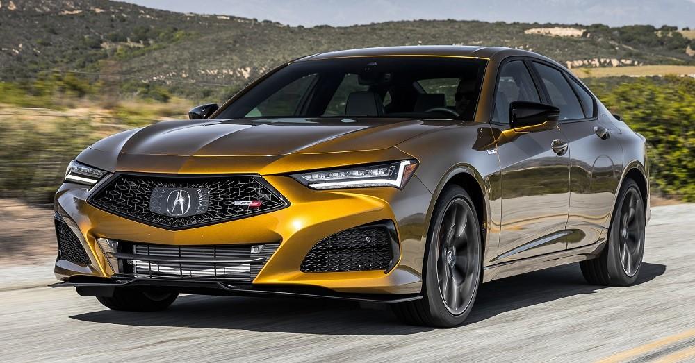 Thiết kế đầu xe của Acura TLX 2021