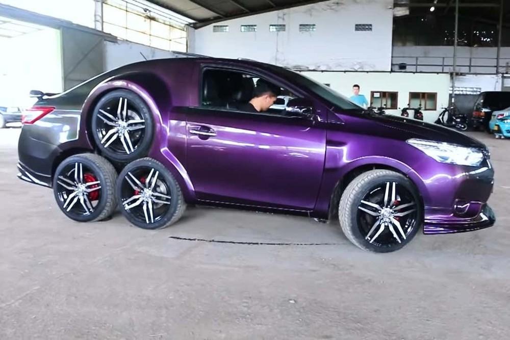 Chiếc Toyota Vios 8 bánh này có chi phí độ khoảng 144 triệu đồng