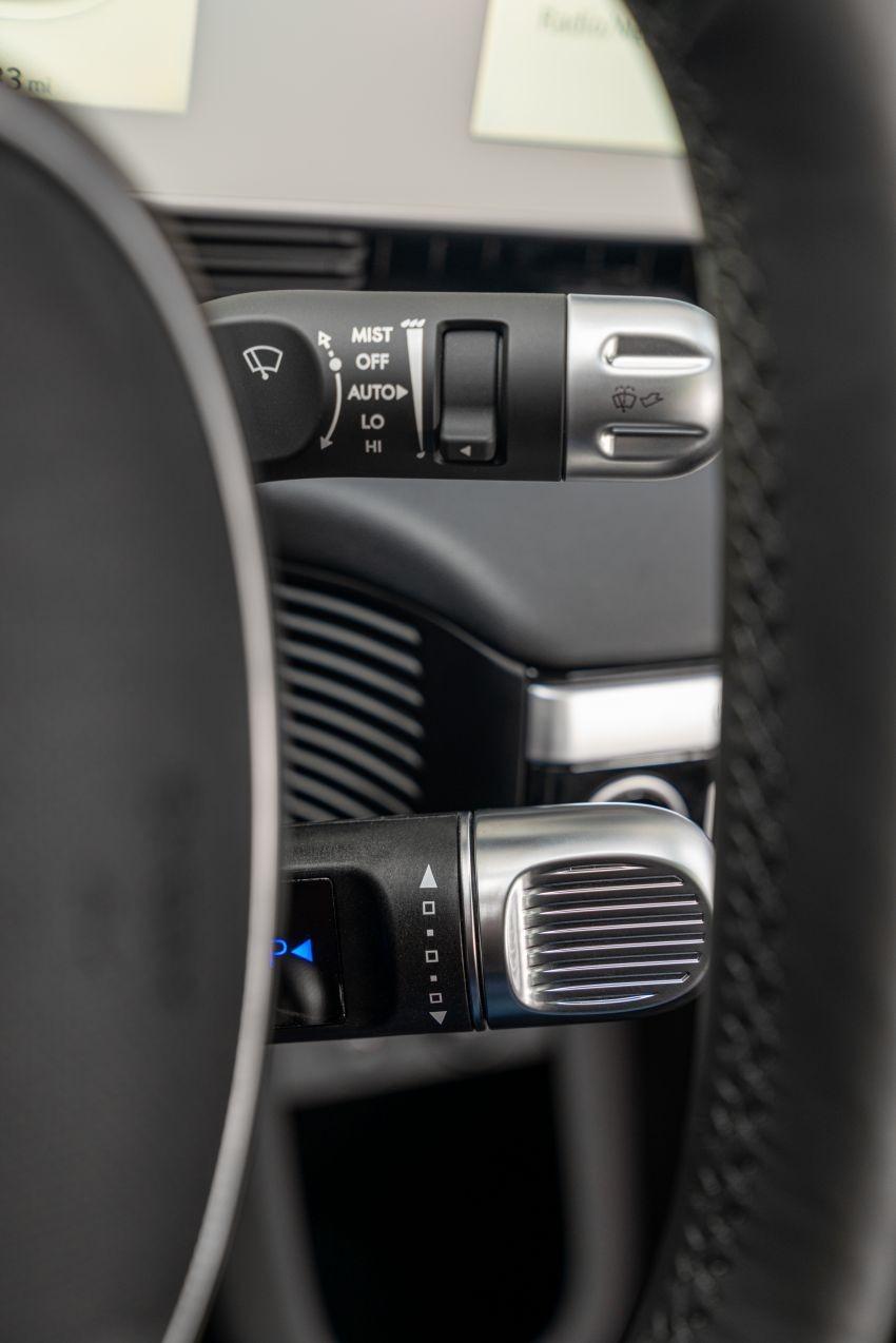 Cần số của Hyundai Ioniq 5 2021 nằm ở cột vô lăng