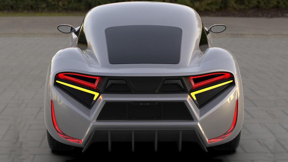 Đuôi xe của EV Electra Quds Rise