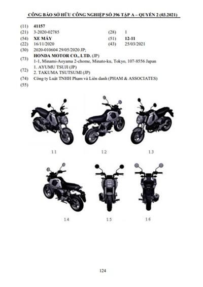 Hình ảnh đăng ký bản quyền cho mẫu xe mới của Honda Việt Nam