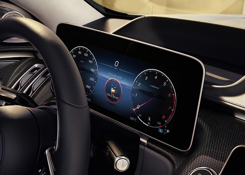Bảng đồng hồ kỹ thuật số của Mercedes-Benz S-Class 2021