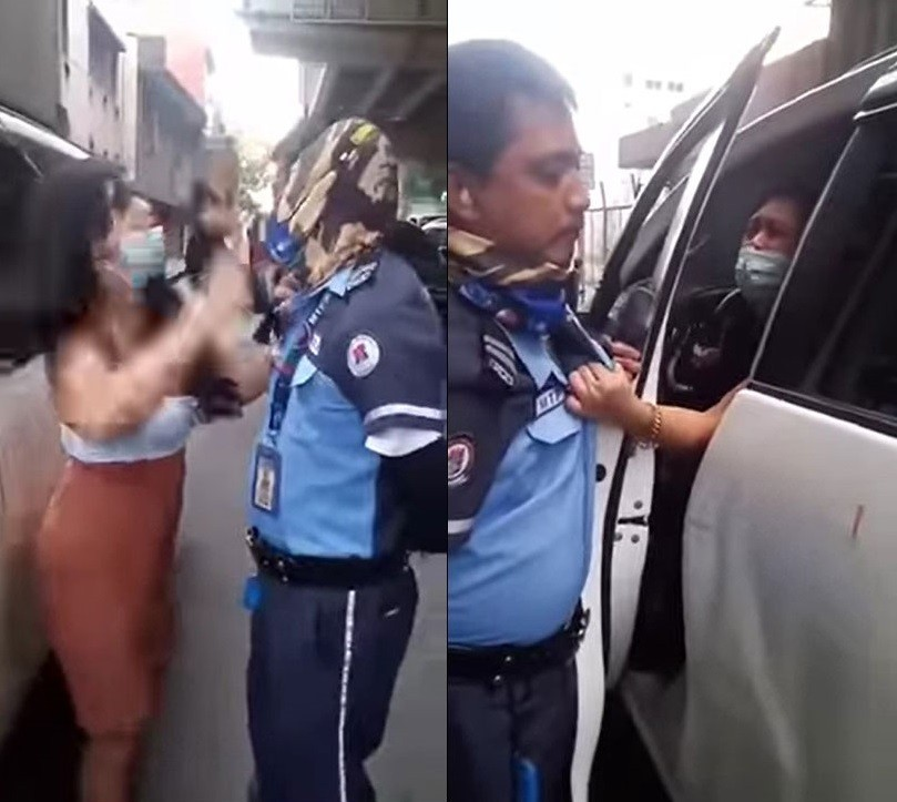 Nữ người mẫu túm áo và đánh cảnh sát giao thông trên cao tốc