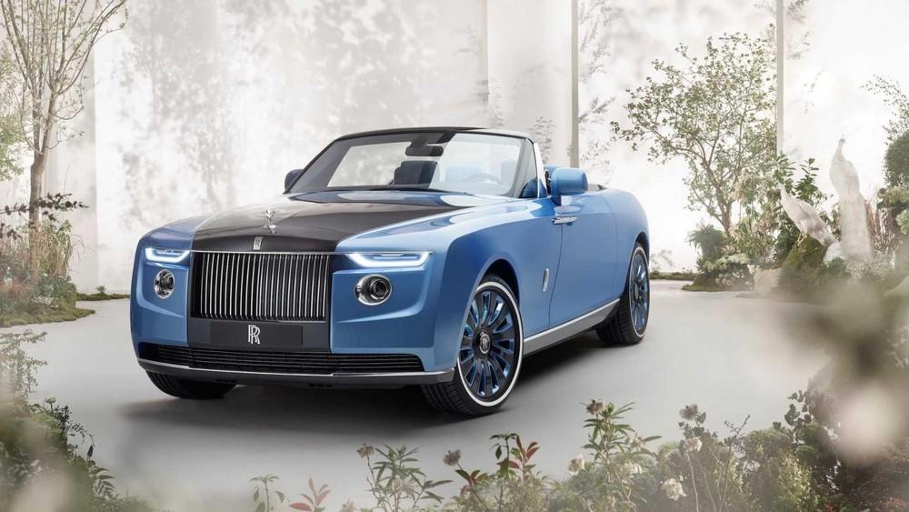 Cận cảnh đầu xe của Rolls-Royce Boat Tail