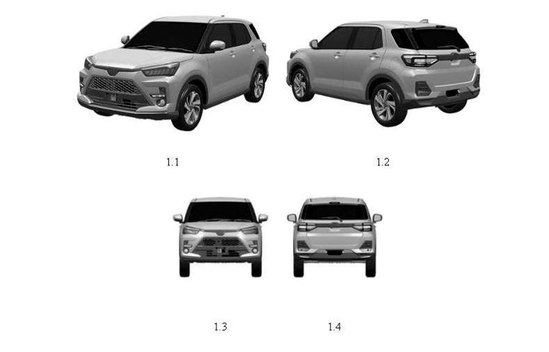Toyota Raize đã được đăng ký bảo hộ kiểu dáng công nghiệp tại Việt Nam.
