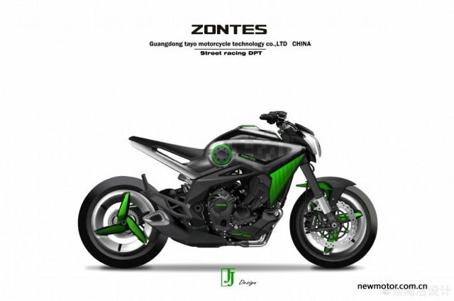 Bản vẽ phác thảo về mẫu xe mới của Zontes có thể ra mắt trong năm 2022