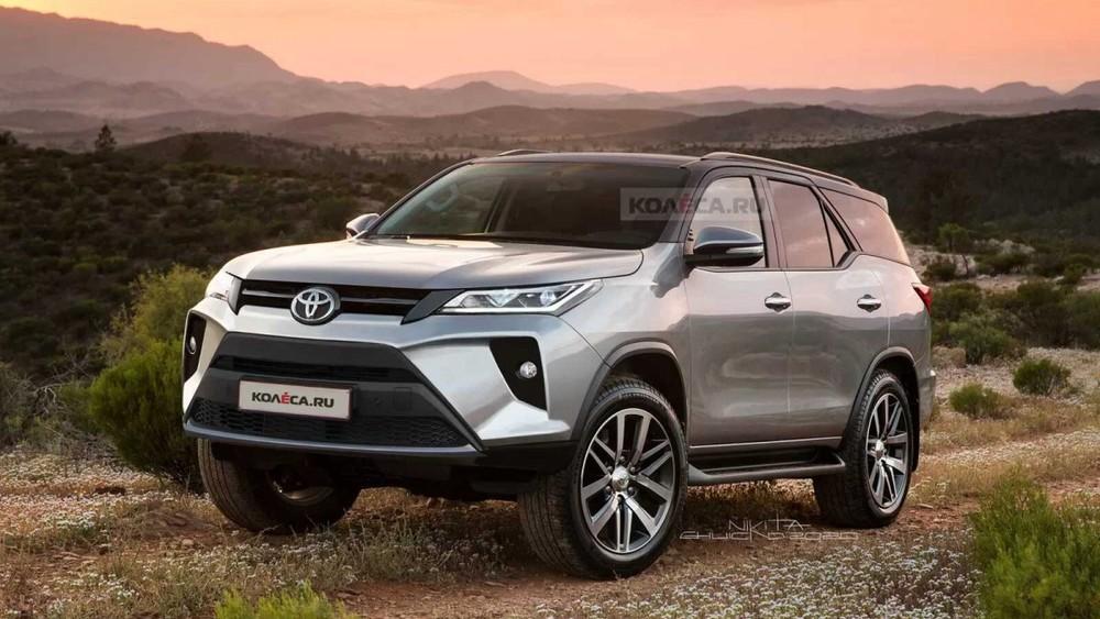 Hình ảnh phác họa Toyota Fortuner 2022