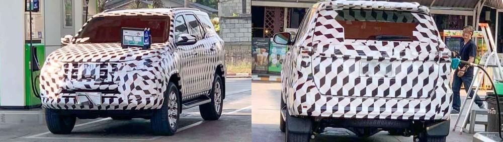 Toyota Fortuner thế hệ mới bị bắt gặp trên đường thử