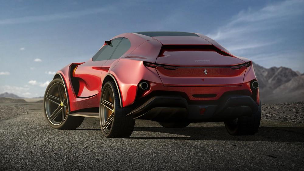 Phía sau của mẫu thiết kế Ferrari Simoom