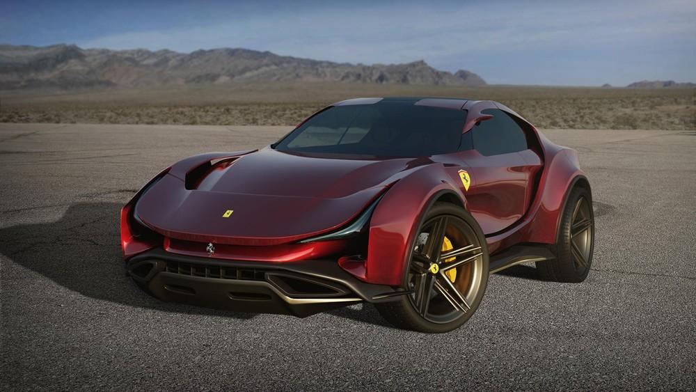 Phía trước của mẫu thiết kế Ferrari Simoom