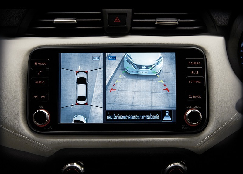 Camera 360 độ trên Nissan Almera 2021 tại Thái Lan.