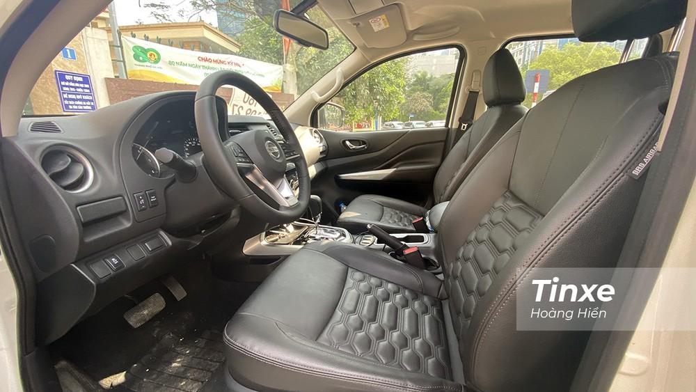 Ghế ngồi của Nissan Navara 2021 êm ái và thoải mái hơn.